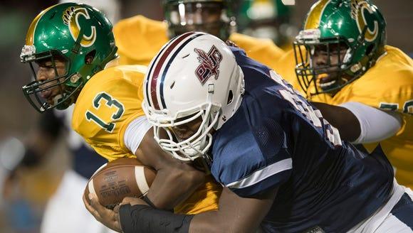 Park Crossing's Joshua Fannin wraps up Carver quarterback