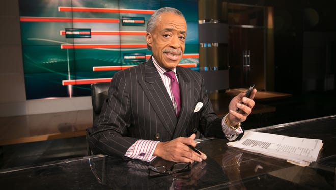 """Al Sharpton on the set of his MSNBC show, """"Politics Nation,"""" a program that Truth Revolt has asked advertisers to drop."""