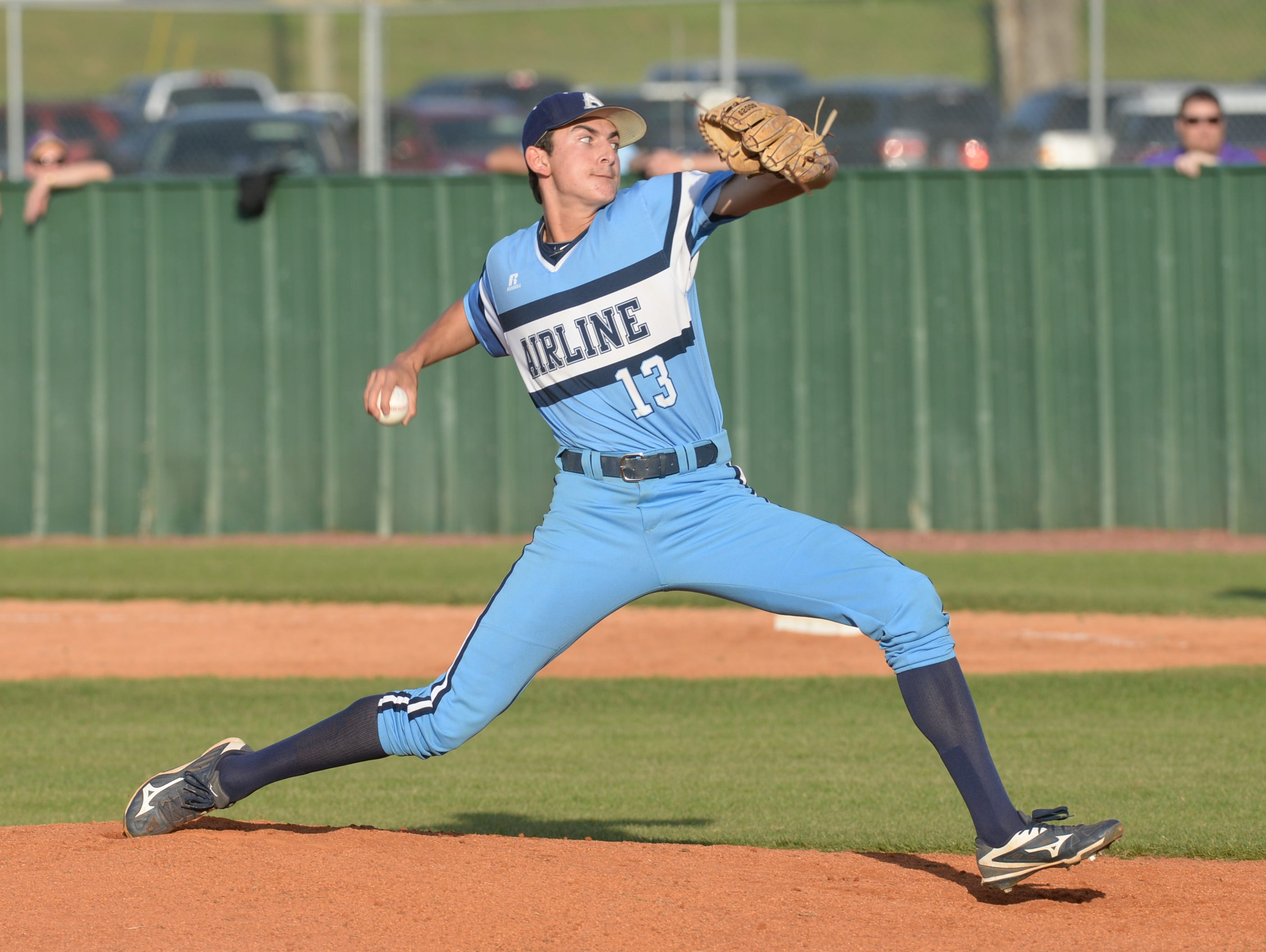 Airline pitcher Cameron Parikh starts off the night against Byrd.