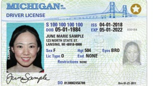 Michigan driver's license.
