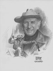 This is the sketch Miller Beer put out to promote Grits Gresham as one of the Miller Lite All-Stars.