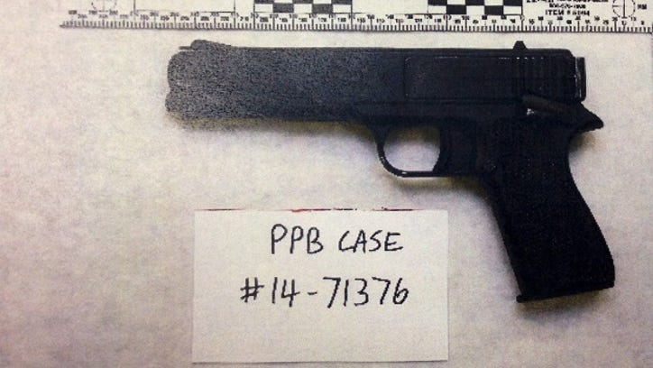 A man who reported tried to carjack motorists Monday at I-84 and 122nd used this replica air pistol.