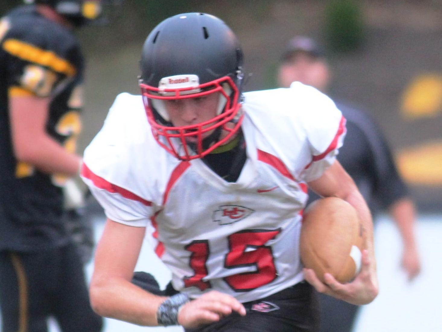 Holy Cross quarterback Hamilton Scott is entering his third year as a starter.