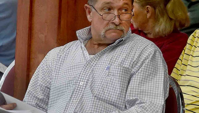 Buddy Helton, South St. Landry Economic District chairman, attends Wednesday's St. Landry Parish Council monthly meeting.