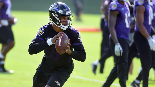 Former U of L QB Lamar Jackson - Baltimore Ravens