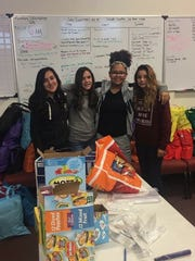 Friends and family helped put  together care packages