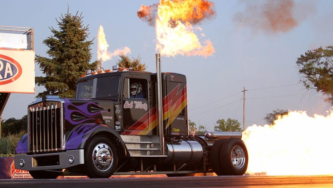 Bob Motz will make his final appearance at the Summit Motorsports Park with his jet truck this Saturday at the Kelly Services Night Under Fire.