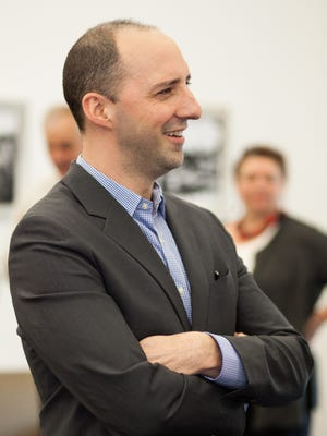 Emmy winner Tony Hale mingles during a reception for him held at the Old Capitol last time he was in Tallahassee.