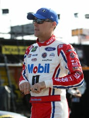 Kevin Harvick is tied with Kyle Busch for the most