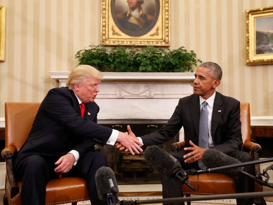 AP APTOPIX OBAMA TRUMP A ELN USA DC
