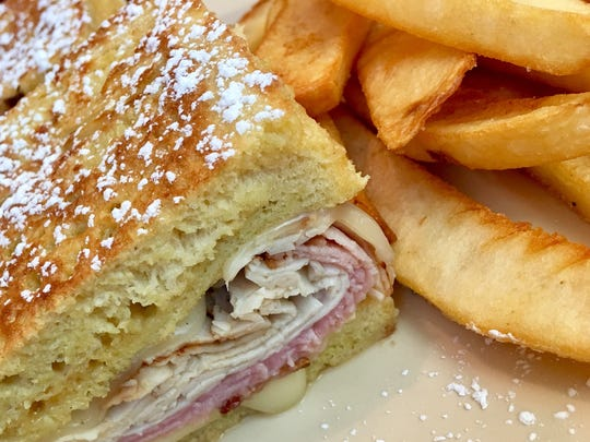 The Monte Cristo at Mulberry Lane Cafe came on thick
