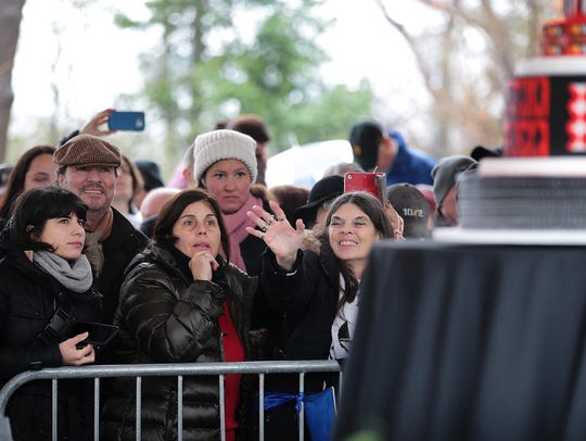 Fans attend what would have been Elvis Presley's 83rd birthday at Graceland.