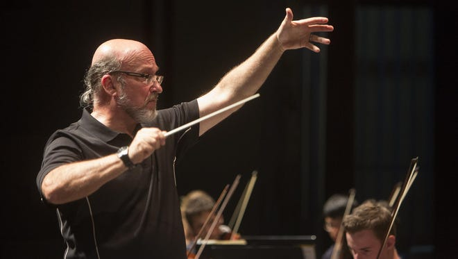 Timothy Perry finishes his 30th year conducting the Binghamton University Symphony Orchestra on Saturday.