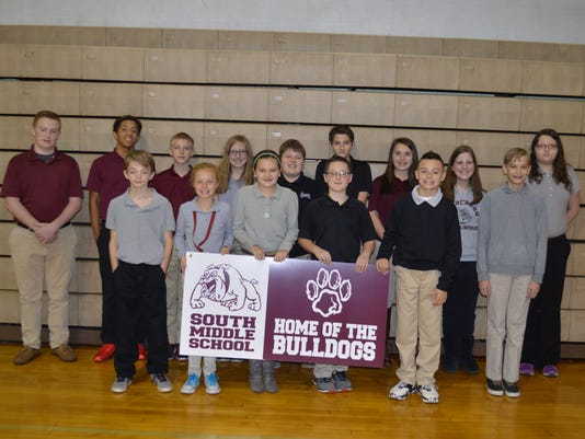 South Middle October students of the month
