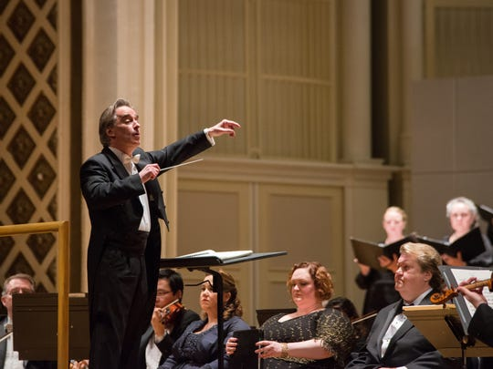 "May Festival Music Director James Conlon conducted Mendelssohn's ""Elijah"" on the final evening of May Festival, and the final concert inside Music Hall before renovations began the next day. The evening also marked Conlon's final season before stepping down as music director."