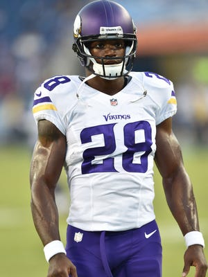 RB Adrian Peterson played one game for the Vikings last season.