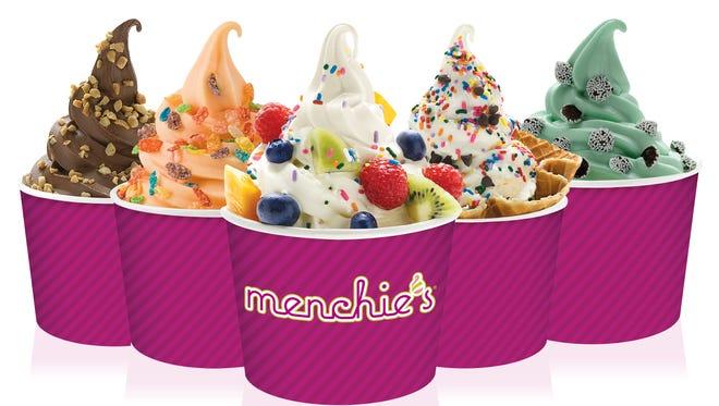 Frozen yogurt at Menchie's Frozen Yogurt.