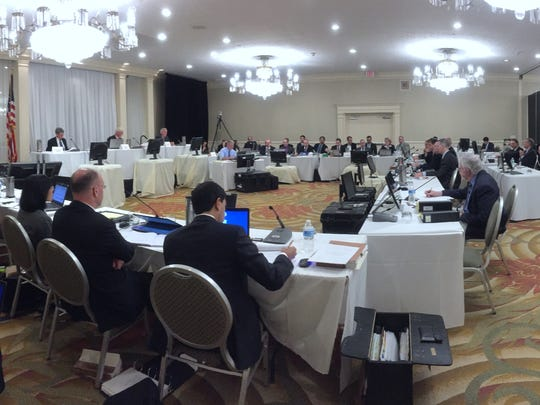 The Atomic Safety and Licensing Board held a hearing on Indian Point's license renewal at the DoubleTree hotel in Tarrytown Nov. 16, 2015.