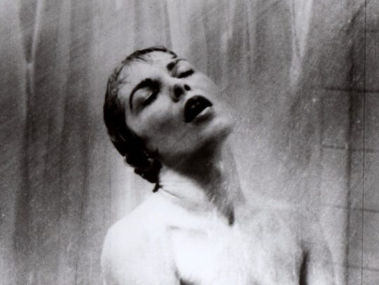 Actress Janet Leigh as Marion Crane in the famous shower