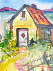 """A Place of Your Own,"" watercolor on paper by Pat Olchefski-Winston"