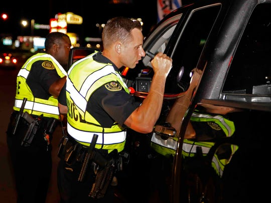 Several agencies took part in a DUI checkpoint on Fort Campbell Boulevard Friday night.