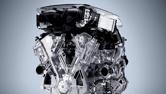 Infiniti Q50 3.0L turbocharged V-6 engine