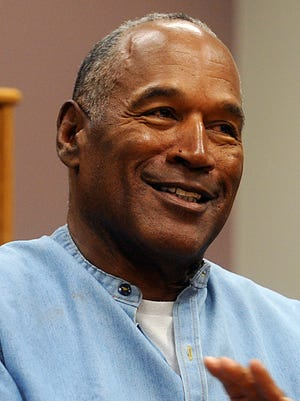 O.J. Simpson at his parole hearing at the Lovelock Correctional Center in Lovelock, Nev., last July.