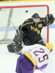 Evan Dixon and the University of Wisconsin-Stevens Point men's hockey team won the NCAA Division III national title in March.