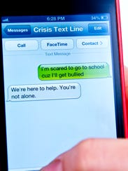 Crisis Text Line, a nationwide text line, offers a