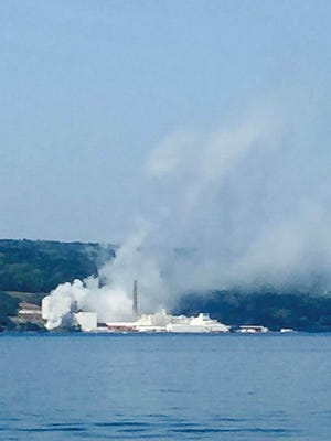 A fire on Labor Day weekend at the US Salt plant in Watkins Glen destroyed a generator and sent smoke drifting north up Seneca Lake.