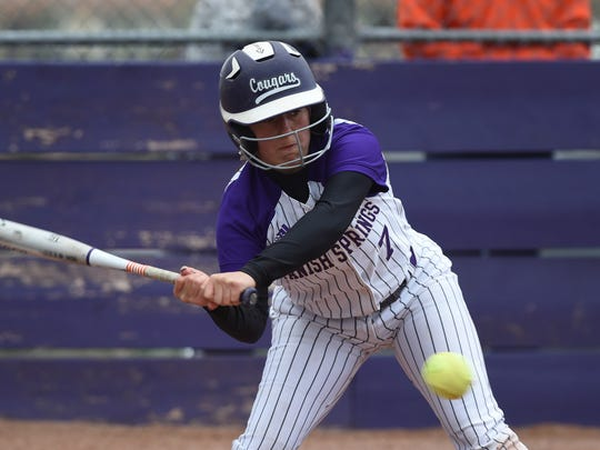 Spanish Springs' Courtney Huff takes a swing at the