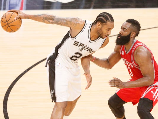 USP NBA: HOUSTON ROCKETS AT SAN ANTONIO SPURS S BKN SAS HOU USA TX