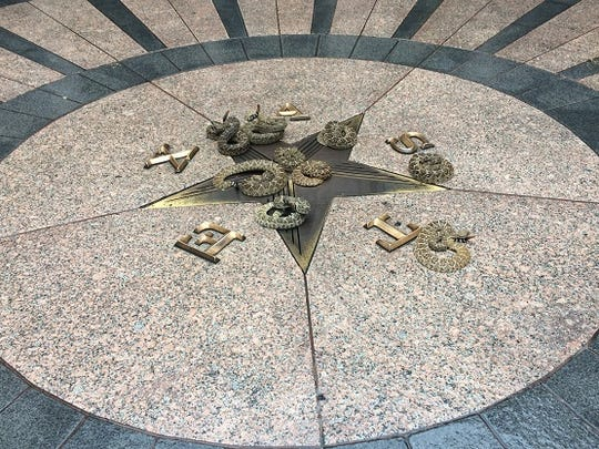Some of the Western diamond-backed rattlers at the Capitol.