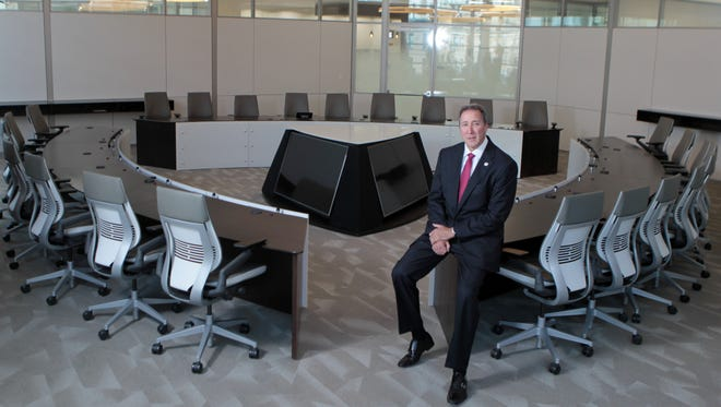 Greg Carmichael, president and CEO of Fifth Third Bancorp., in the company's executive board room at its headquarters on Fountain Square in downtown Cincinnati.