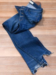 """Stylemaker Christine Mueller says """"everyone should own 10 pairs"""" of high-waisted jean. Tuesday, Sep. 19, 2017."""