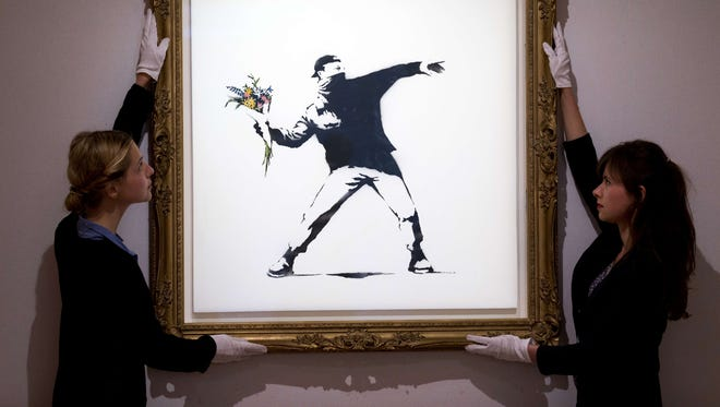 Banksy's art is popping up in New York this month.