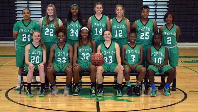 The Myers Park girls basketball team.