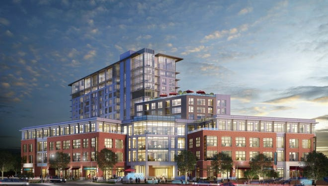 4000 Hillsboro will include 86,000 square feet of commercial space in addition to 308 luxury apartments.