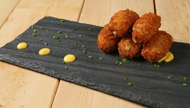 Serrano ham croquetas at Moviday, 524 S. 2nd St.   The Spanish restaurant along with Bodegon and Vermuteria 600 in Hotel Madrid, 600 S. 6th St., have added Monday hours.