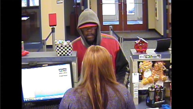 Springettsbury Township Police released this image of a man they say robbed a bank April 6 on Mount Rose Avenue. On Wednesday, police charged Timothy Douglas Gelzer.