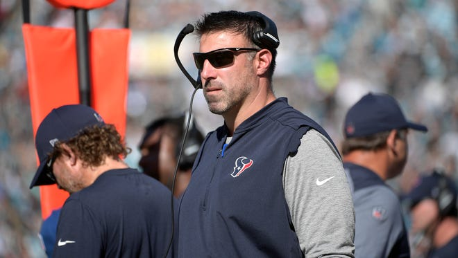 Mike Vrabel has been hired as coach of the Titans.