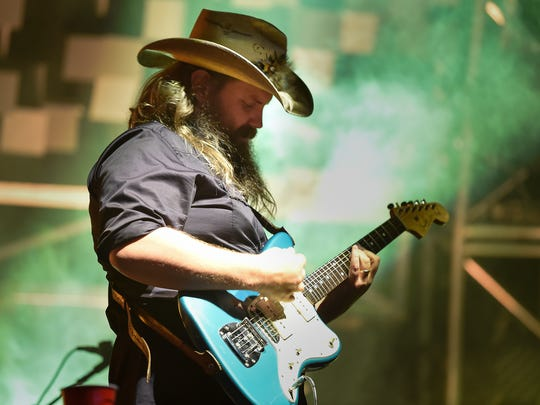 Chris Stapleton performs during his All American Road Show concert Oct. 13, 2017, at Bridgestone Arena in Nashville.