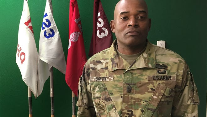 Command Sgt. Maj. Todd L. Smith took over as the senior enlisted leader with the 123rd Brigade Support Battalion on Oct. 3. He wants to create a legacy by developing new leaders for the Army.