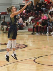 Grace Beshears take a 3-pointer as Aucilla Christian