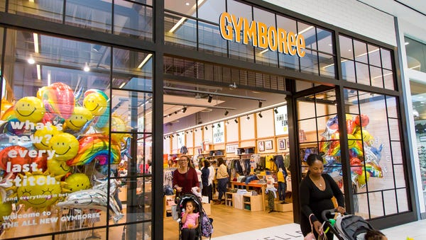 "Gymboree's new look after its ""brand refresh."""