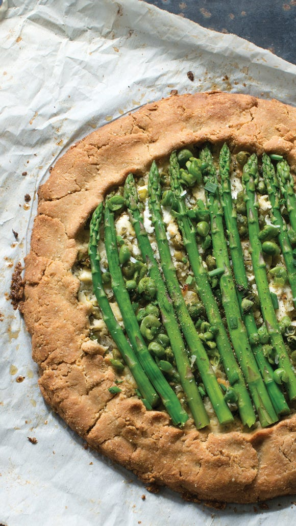 "Savory Spring Crostata from ""Whole Protein Vegetarian"" by Rebecca Miller Ffrench/Joshua Holz, Courtesy photo"