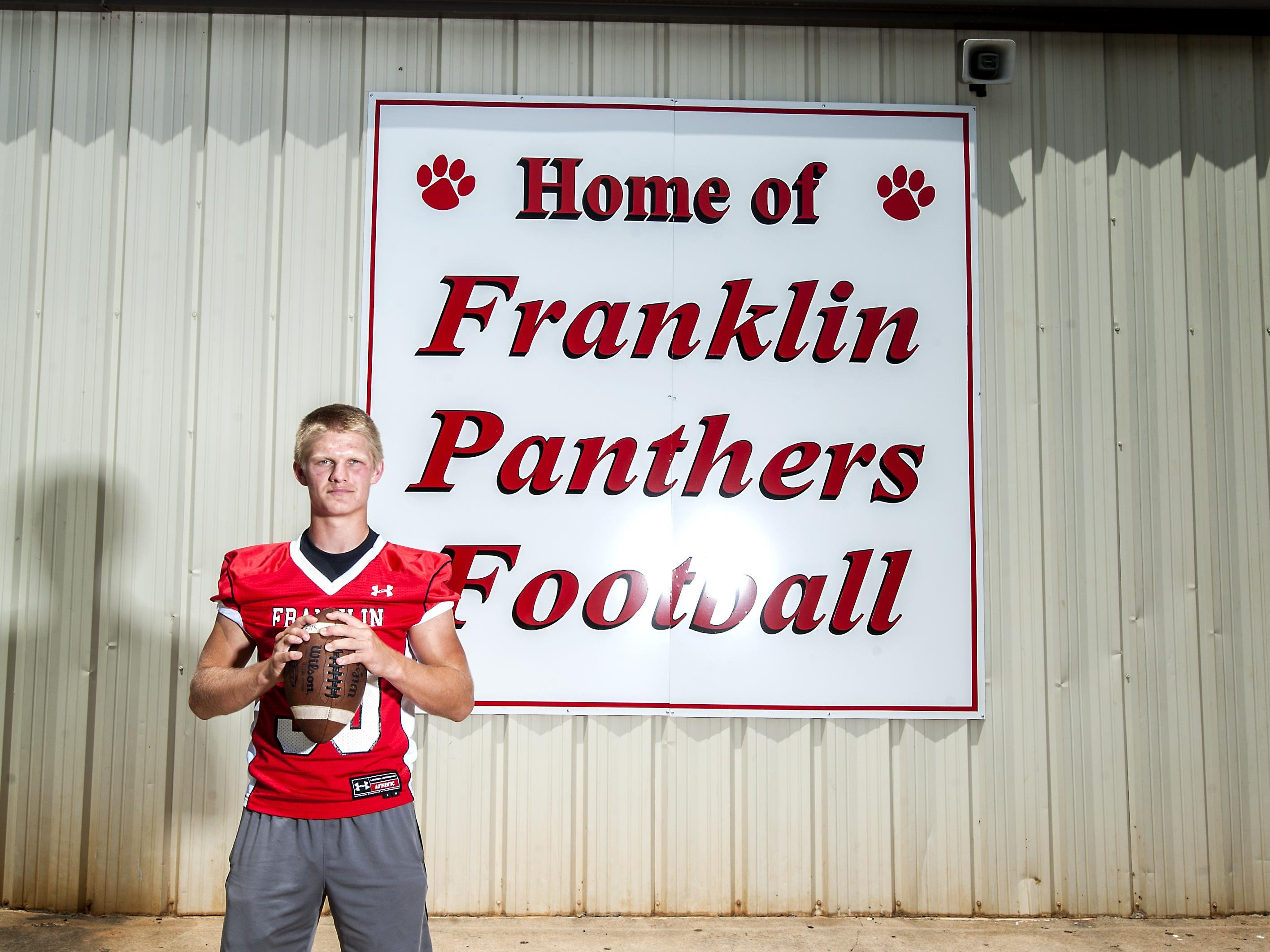 Hunter Gibbs, 17, senior, linebacker, #30 at Franklin High School, returning All-Conference player. 7/31/15