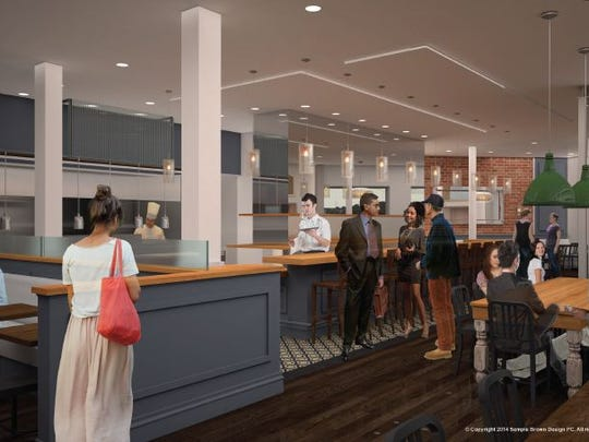 A rendering of The Kitchen, which will open June 23 at 100 N. College Ave.