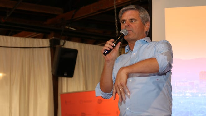 Steve Case, CEO of venture-capital firm Revolution, addresses the audience at the Rise of the Rest competition in Phoenix.