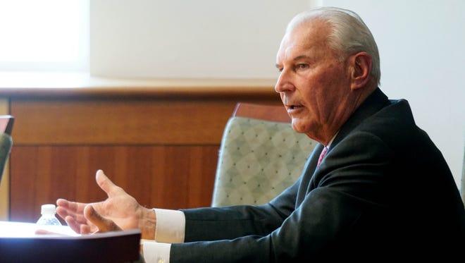 Wilmington Mayor Mike Purzycki speaks to the News Journal editorial board.
